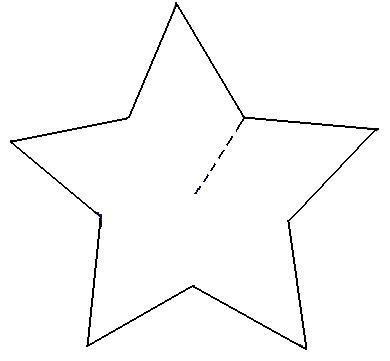 Recortamos Ambas Estrellas Por El Contorno Y Realizamos Un Corte En La