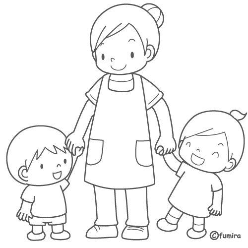 Dibujo para colorear de niños jugando - Imagui