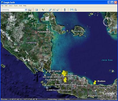 Palembang Lampung Jawa Google