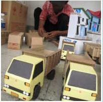 ... kardus bekas untuk diubah menjadi mainan kardus disulap jadi truk