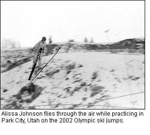 ... used to jump off a ski hill onto the ice-covered Red River wearing ...