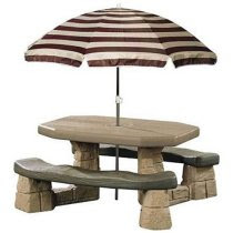 Little Tikes Fold 'n Store Table with Market Umbrella | eBay
