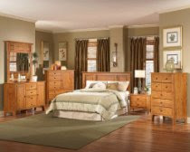 Bedroom Furniture Set in Oak - Creative Interiors - 814-BSET-1