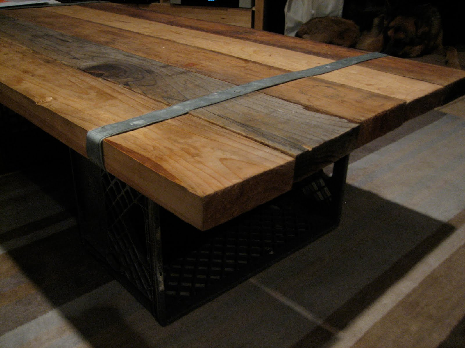 Homemade coffee table ideas photograph wood metal sc Coffee table top ideas