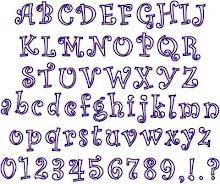 Curlz Applique Font