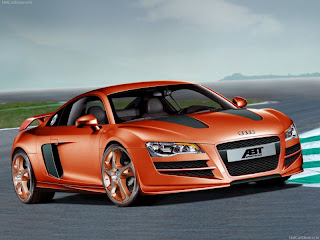 Orange Audi R8 Car Desktop Wallpaper