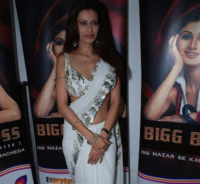 Payal Rohatgi in White Saree