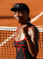 Venus Williams in Black Tennis Outfit