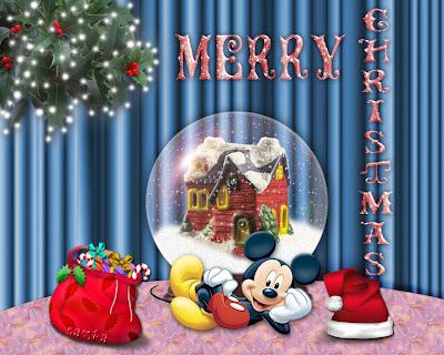 Funny Christmas Mickey Background