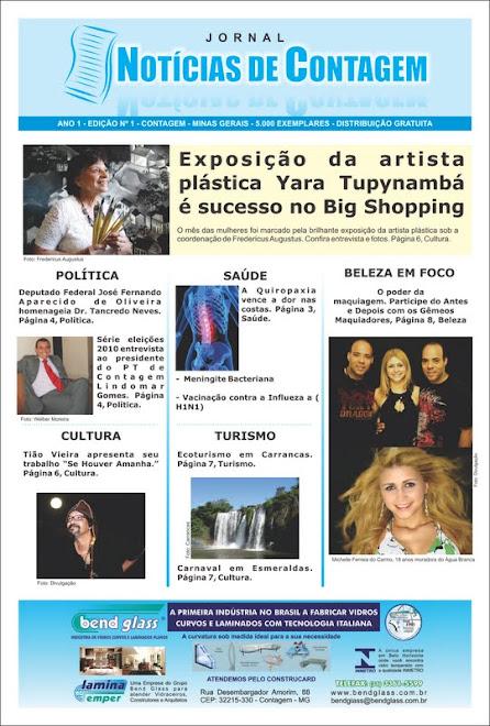 Jornal Noticias de Contagem - Colunista Gemeos Maquiadores
