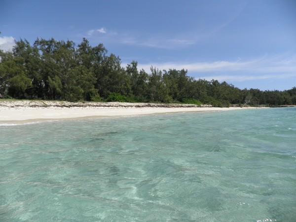 Plage paradisiaque déserte à l'Ile Maurice