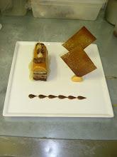 buche de noël au café et noix de pécan