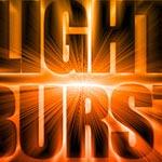 Light burst text