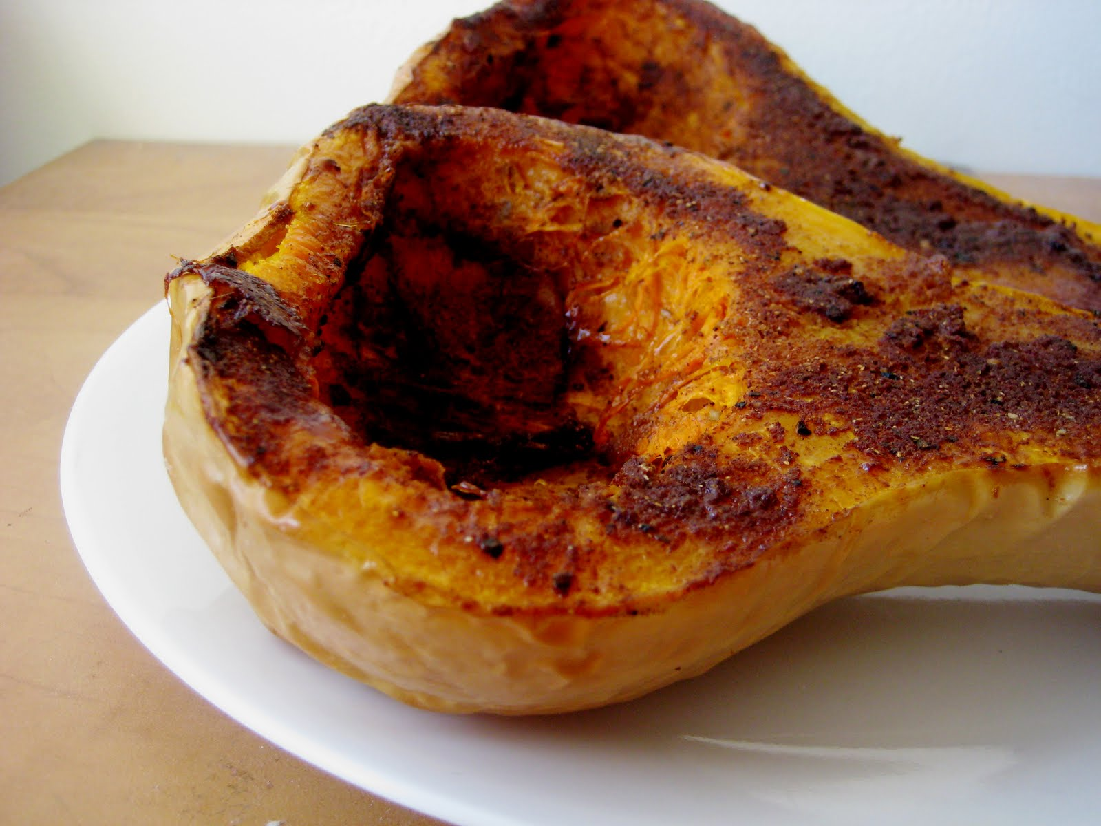 Pie-Spiced Roast Butternut Squash | Joanne Eats Well With Others