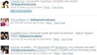 hasstag MalaysiaCheatLaser