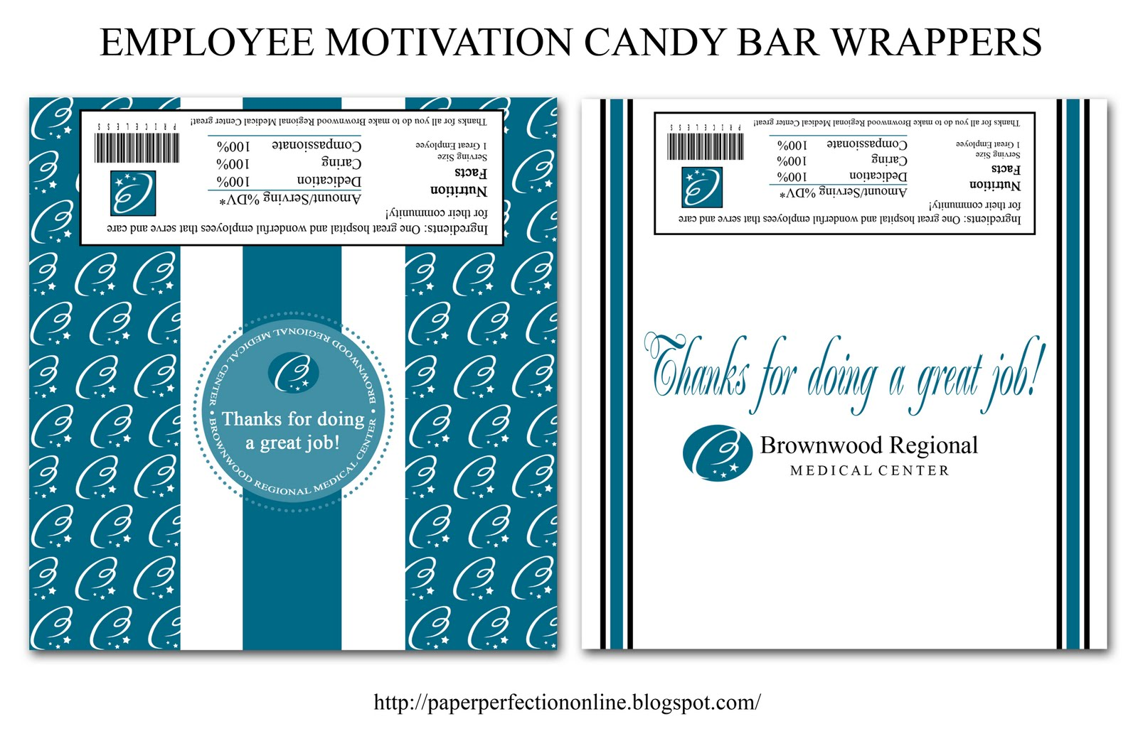 Employee Appreciation Quotes Paper Perfection Candy Bar Wrapper