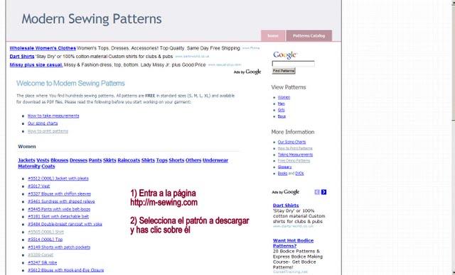 EL BAÚL DE LAS COSTURERAS: Cómo descargar los patrones gratis de ...