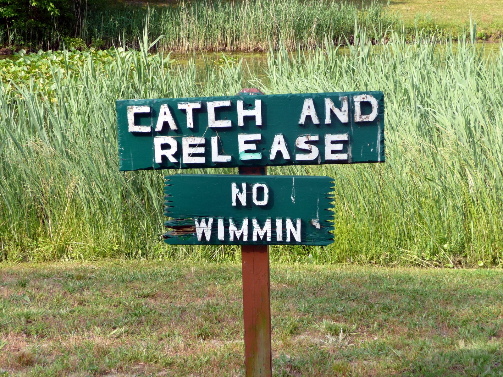 Younkin 39 s fishing blog sign at fort whaley campground for Ken penrod fishing report