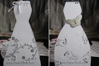 Handmade elegant dress cards