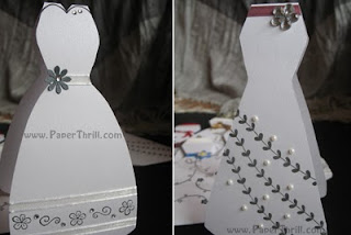 Handmade beautiful dress cards