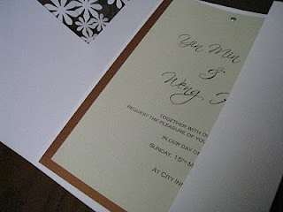 daisy handmade wedding invitation