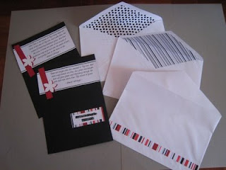 my wedding invitation card and envelopes