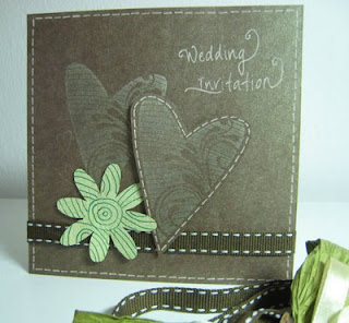 Nature loving wedding invitation card - Front