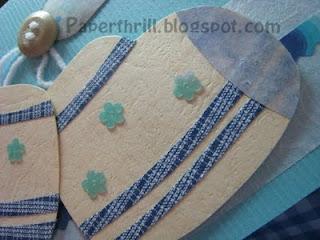 Baby blue baby booties newborn card