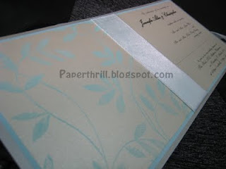 Tiffany blue whimsical vines wedding card
