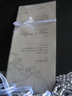 Vintage swirls handmade wedding invitation