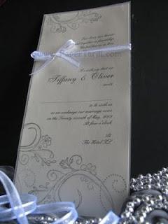 Vintage swirls handmade wedding invitation