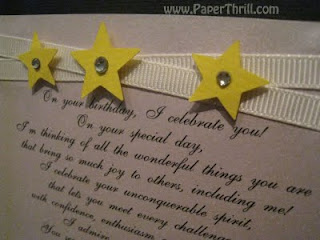 Starry Starry birthday card