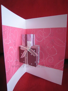 Birthday present handmade pop up card