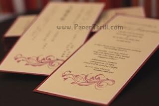 Handmade chinese swirls wedding invitation
