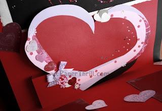 Handmade heart birthday card