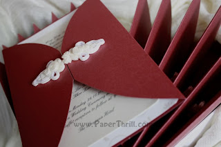 Oriental knot handmade wedding card