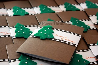 Christmas film strip greeting cards