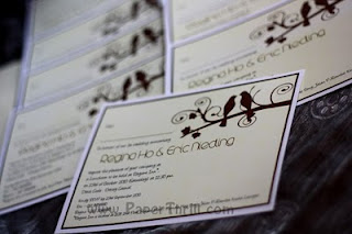Brown tree bird wedding anniversary card