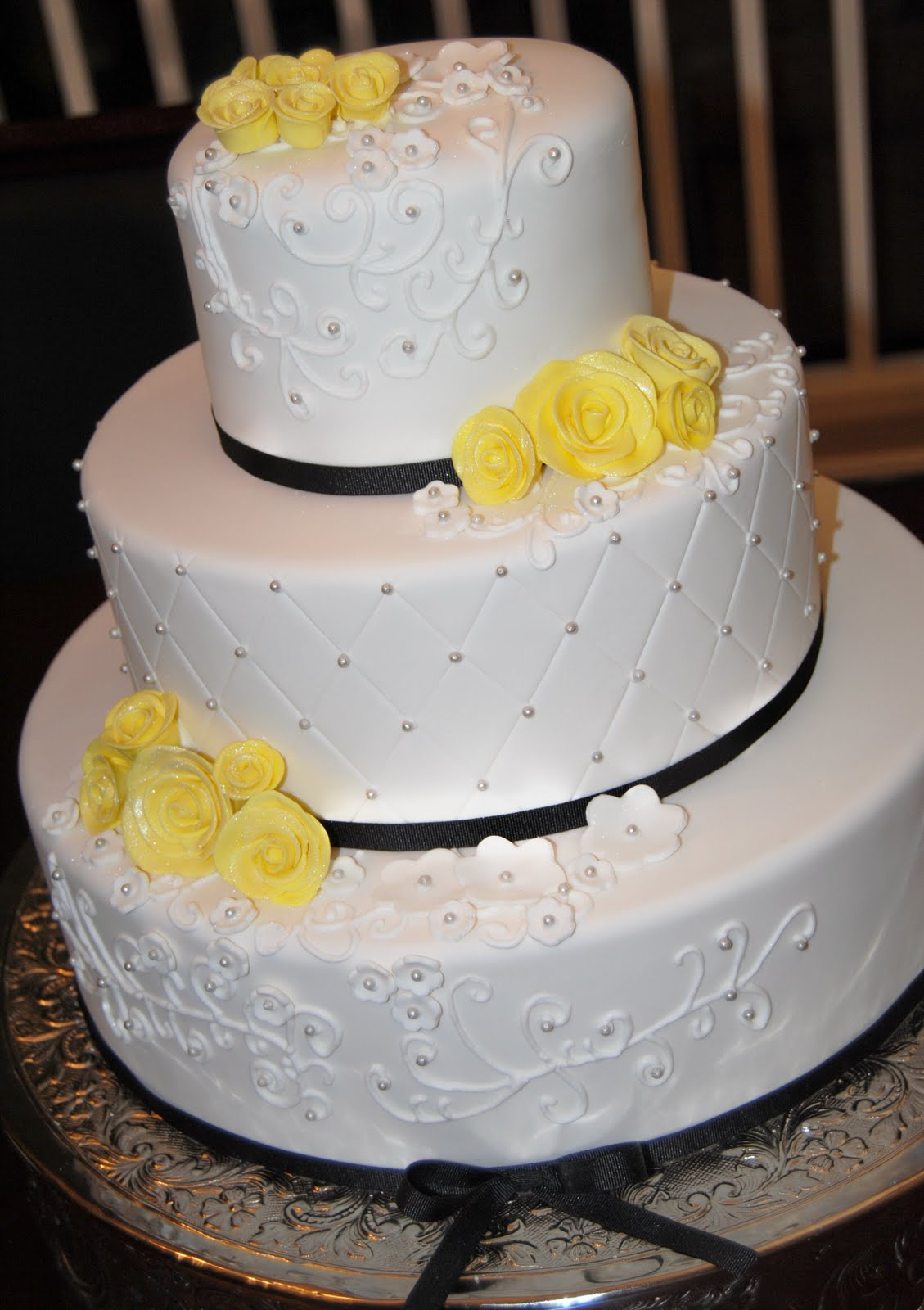 SASSY CAKES - Your Fondant Cake Design Destination: White and Yellow ...