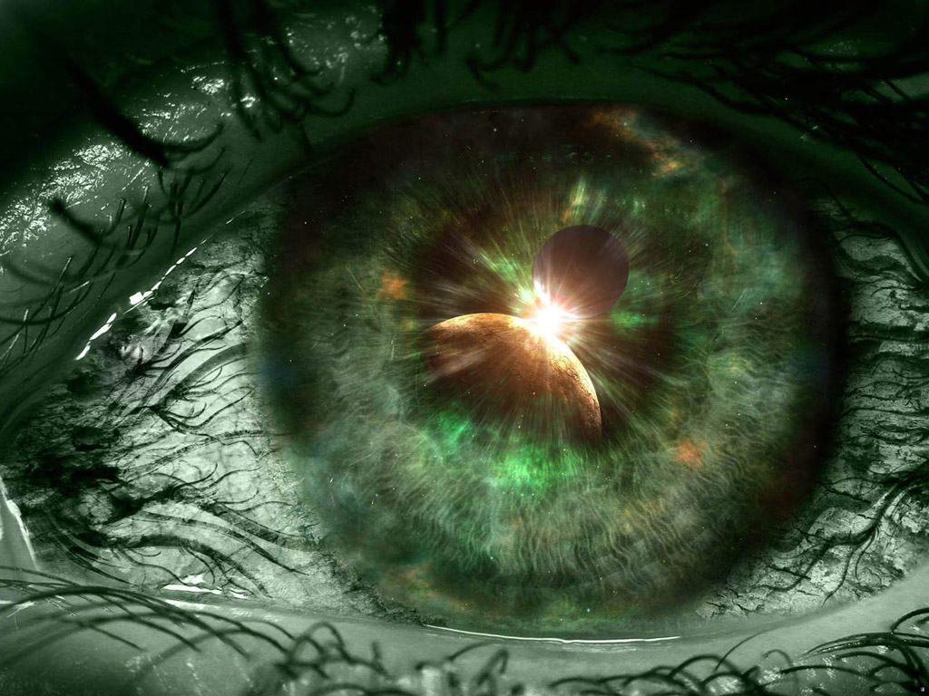 Green Eye Desktop Wallpaper
