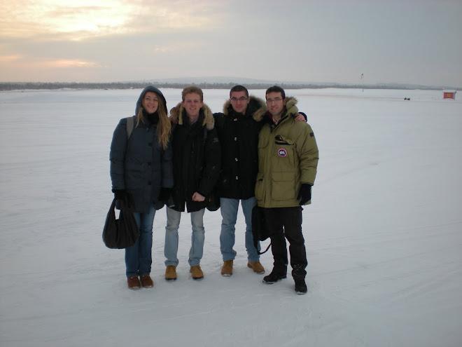 Arrival at the Kiruna Airport