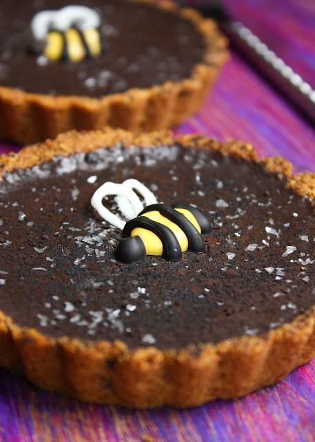 Easy Chocolate Tart with Honey Crust | Sprinkle Bakes