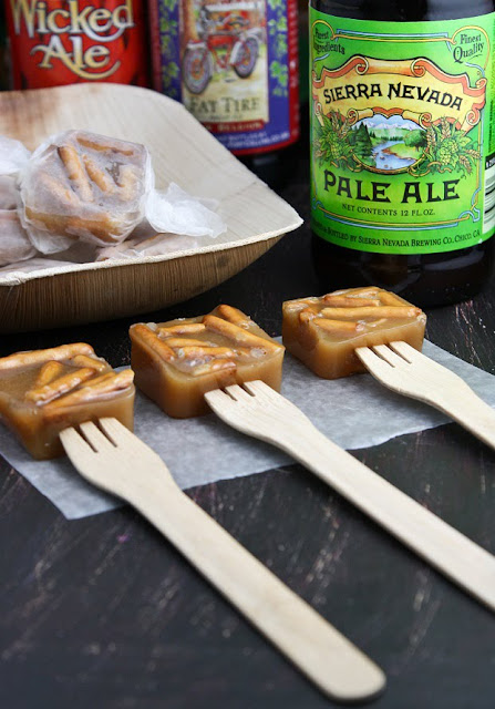 Ale and Pretzel Soft Caramels | Sprinkle Bakes
