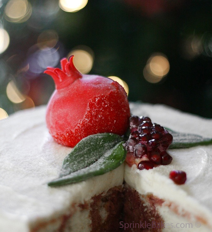 Xmas Pomegranate Cake