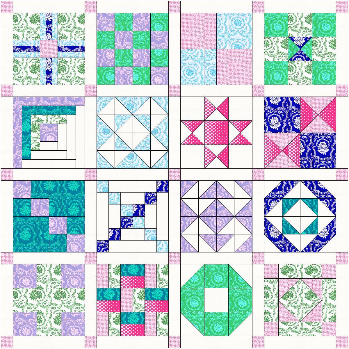 Simple Sampler Quilt Along Details - Amy's Creative Side : the quilt sampler - Adamdwight.com