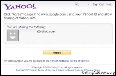 Use Google,Yahoo account as an OpenID - Tech Pages