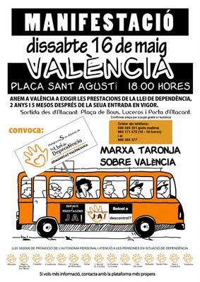 Cartel manifestación Marxa Taronja de mayo