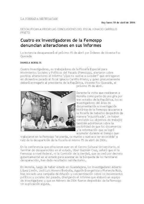 Actividad previa a la formación del CIHMS A.C., por el grupo promotor