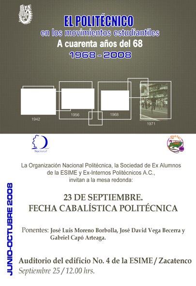 El IPN en el Movimiento Estudiantil a 40 años del 68