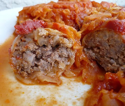 Stuffed cabbage served as a lunch